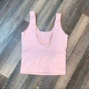 Nike Seamless Pink Tank with Built in Bra